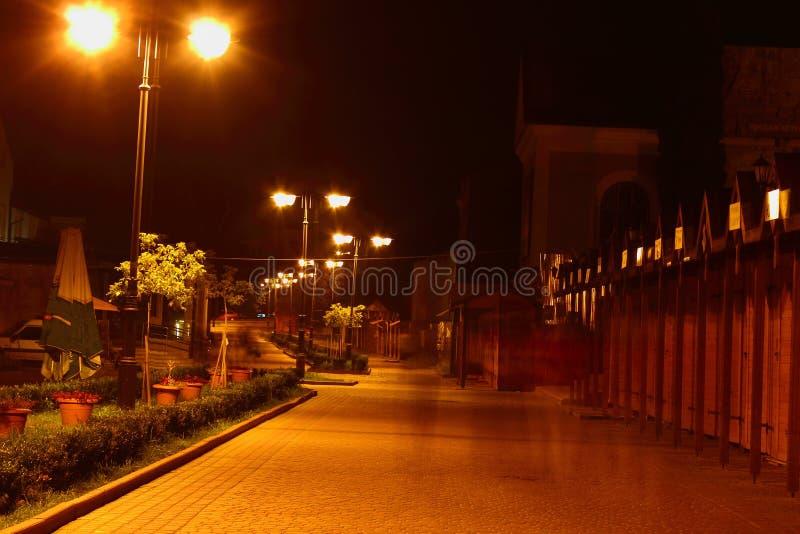 Parc Truskavets de nuit images stock