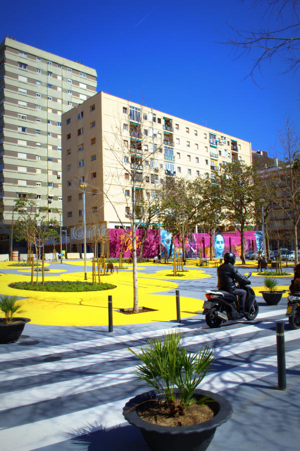 Parc urbain, Barcelone images stock