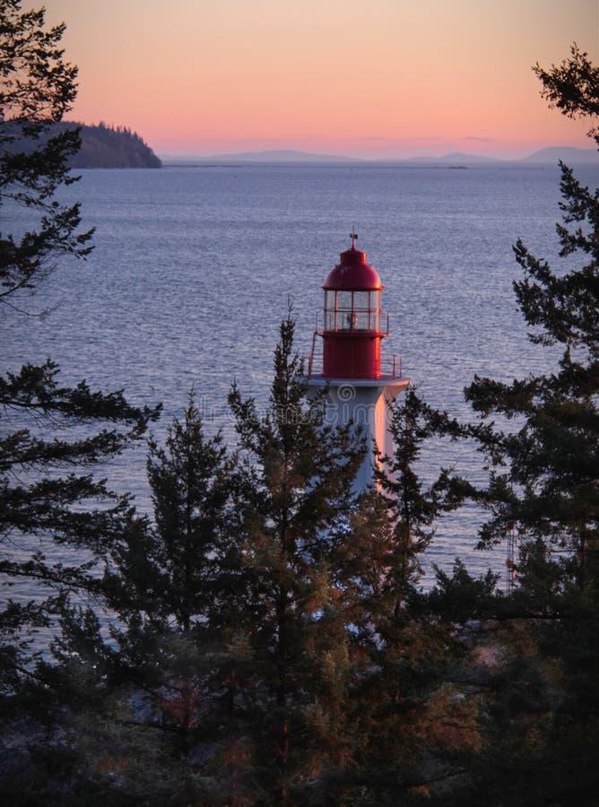 Parc Vancouver occidental de phare image stock
