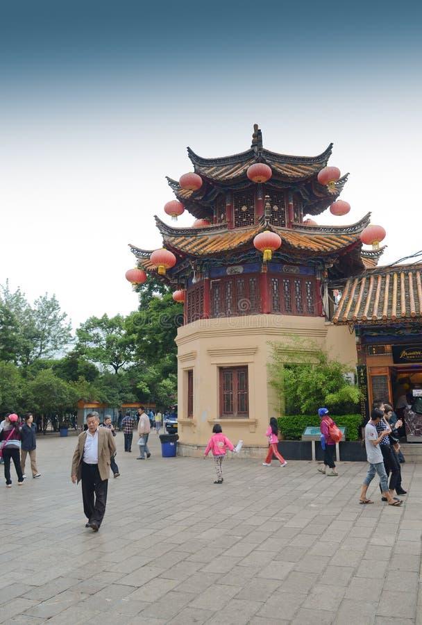 Parc vert de lac à Kunming, Chine images libres de droits