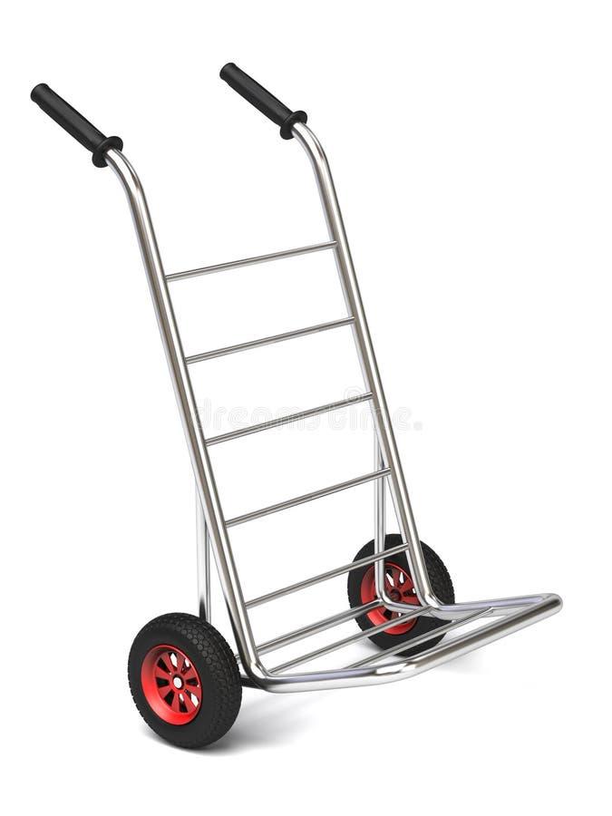 Parcel cart royalty free illustration