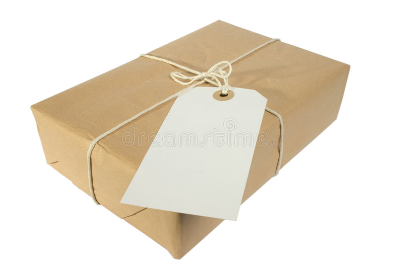 Download Parcel And Label stock image. Image of parcel, present - 161433