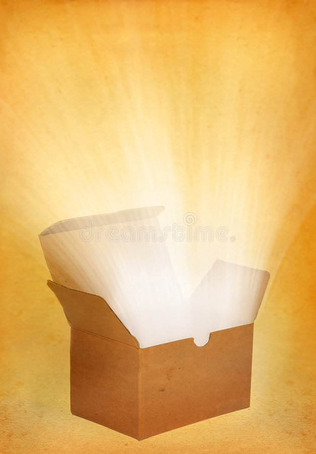 Download Parcel with a treasure stock illustration. Image of cardboard - 3515120