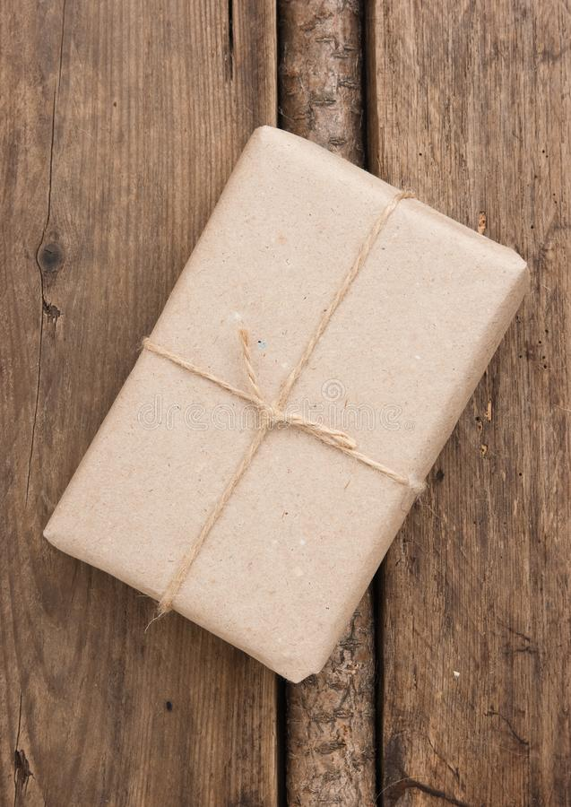 parcel wrapped stock photo