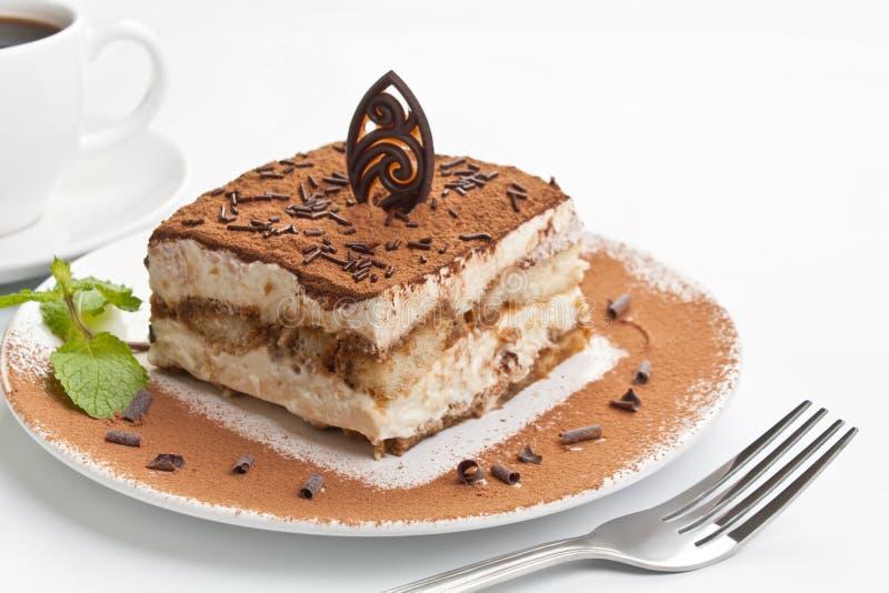 Parcela de sobremesa italiana do Tiramisu fotografia de stock royalty free
