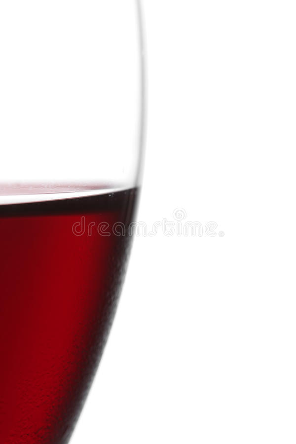 Parcela de vidro de vinho vermelho fotos de stock