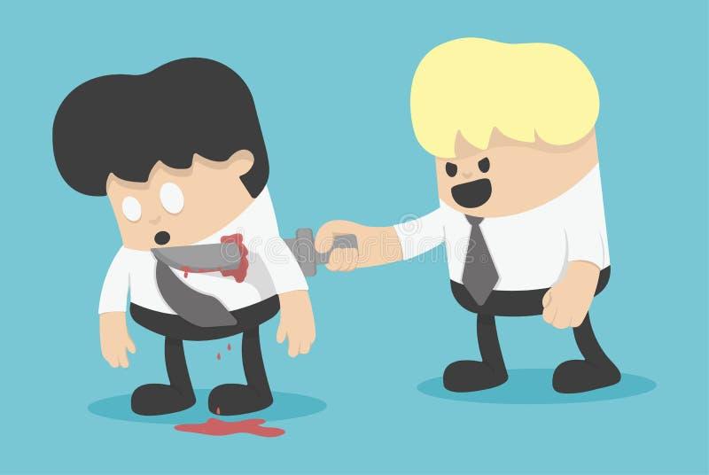 A parceria da traição no negócio ilustração do vetor