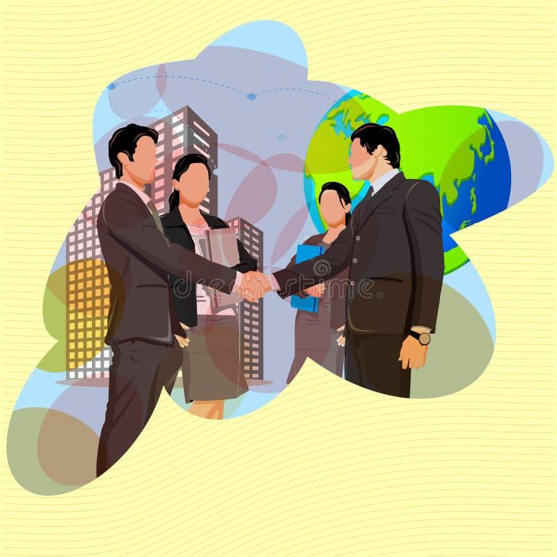 Parceria do negócio ilustração stock