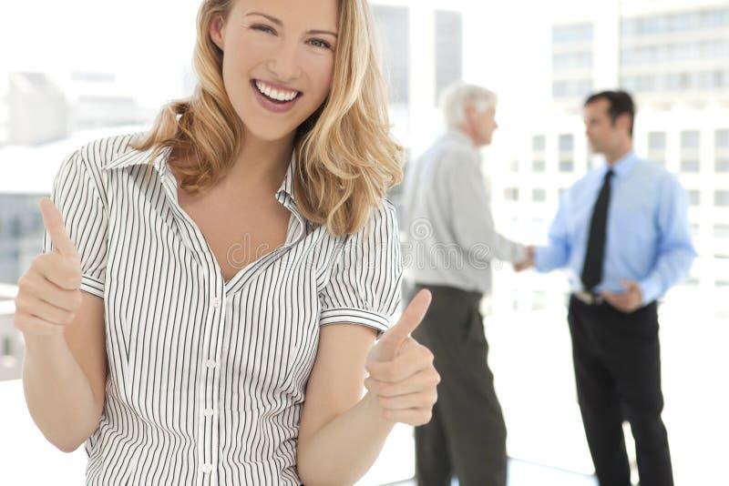 Parceria do negócio dos executivos empresariais foto de stock