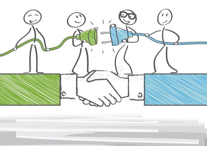 Parceria e cooperação ilustração stock