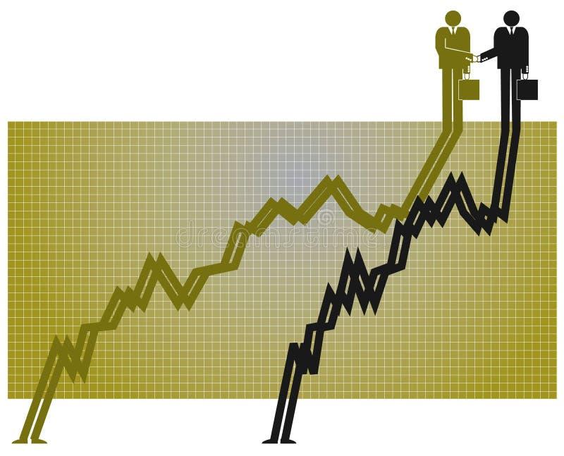 Parceria e crescimento ilustração stock