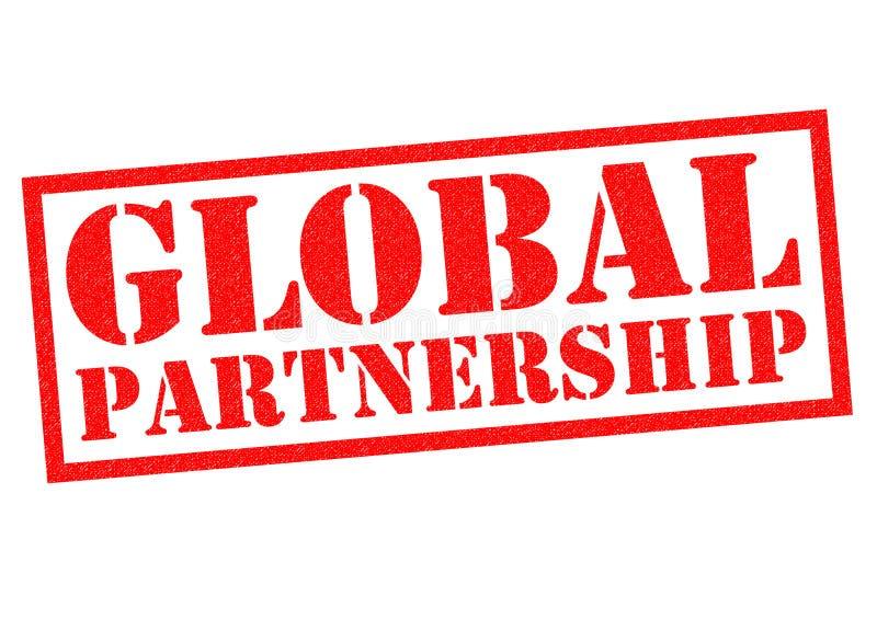 Parceria global ilustração do vetor