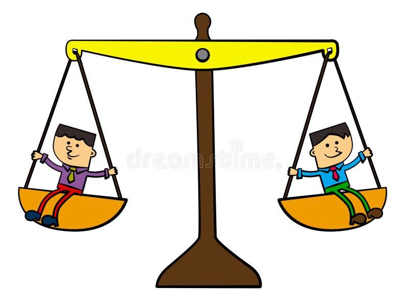 Parceria igual ilustração do vetor
