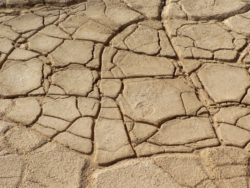 Parched earth. Parched desert earth patterned with cracks royalty free stock photo