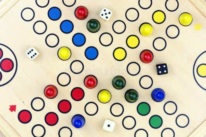 Parcheesi #4 del gioco da tavolo fotografia stock libera da diritti