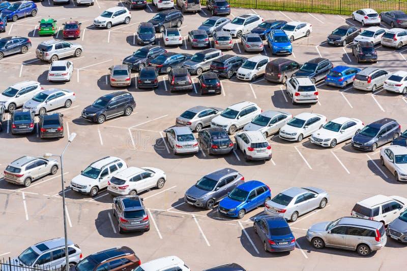 parcheggio all'aperto pagato immagini stock libere da diritti