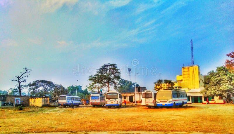 Parcheggio del bus immagine stock