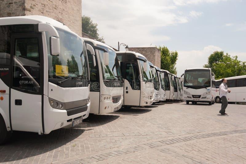 Parcheggio del bus fotografie stock libere da diritti