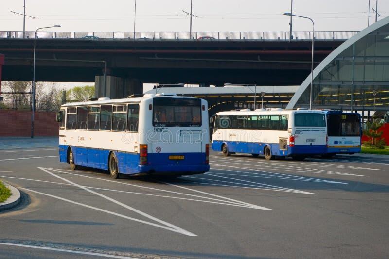 Parcheggio del bus fotografie stock