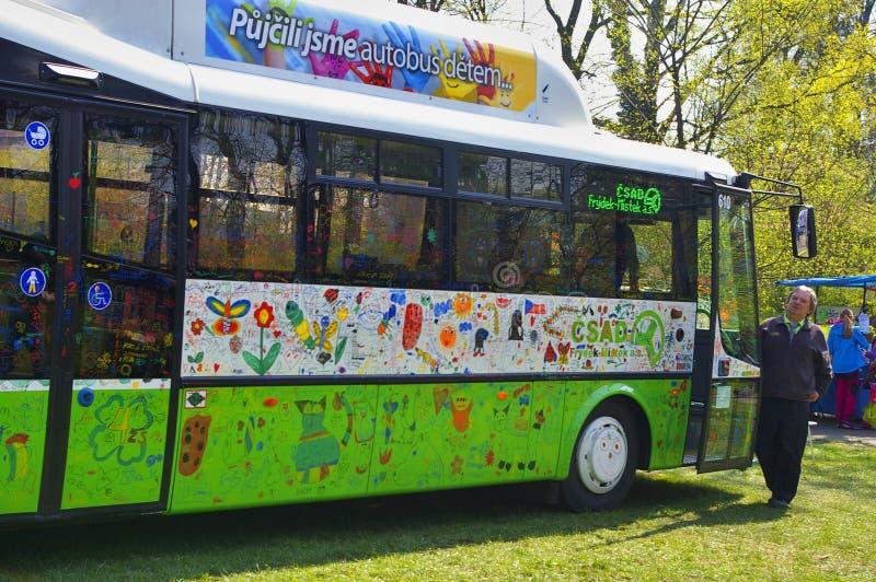 Parcheggio del bus immagine stock libera da diritti