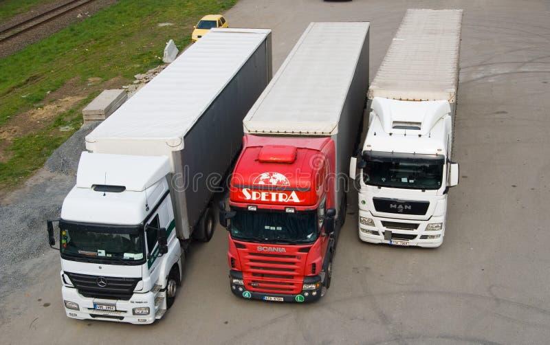 Parcheggio del camion fotografia stock