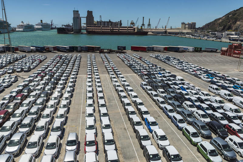 Parcheggio del porto immagine stock