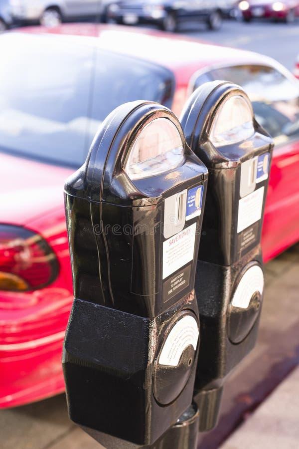 parcheggio del tester fotografia stock libera da diritti