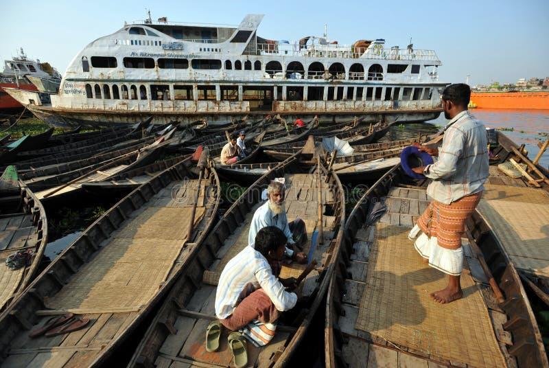 Parcheggio del traghetto immagine stock libera da diritti