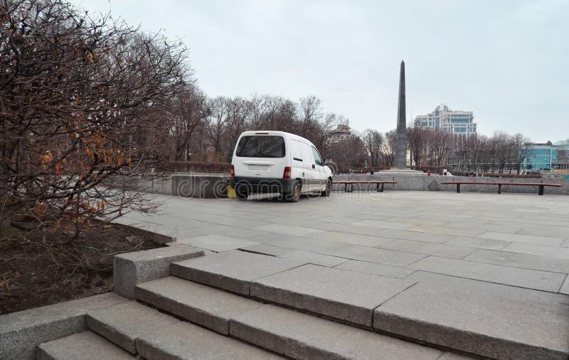 Parcheggio dell'automobile in Ucraina fotografia stock libera da diritti