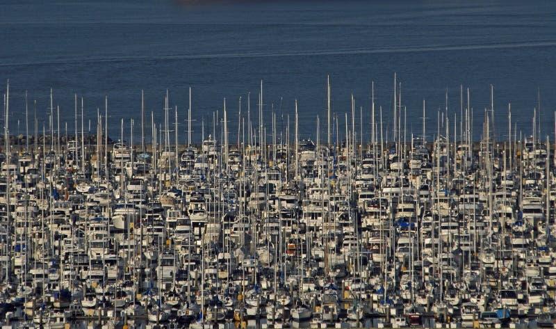 Parcheggio della barca a vela immagine stock libera da diritti