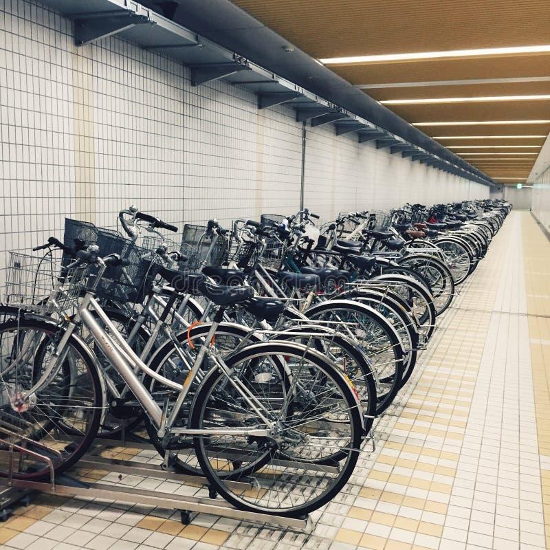 Parcheggio della bici del Giappone fotografia stock libera da diritti