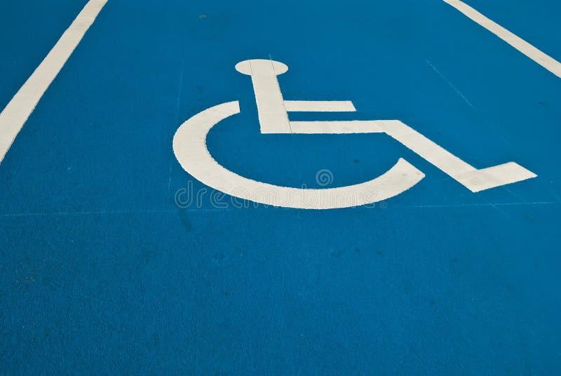 Parcheggio reso non valido fotografie stock libere da diritti