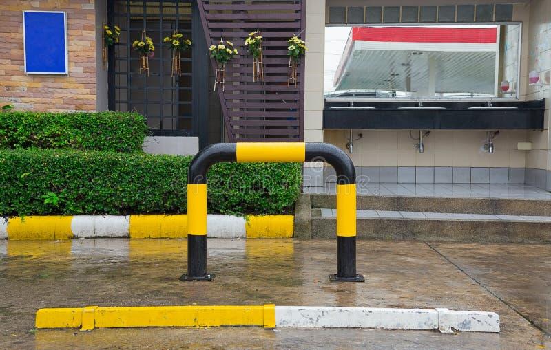 Parcheggio, Tailandia, segno di parcheggio, vuoto, nessuna gente fotografia stock libera da diritti