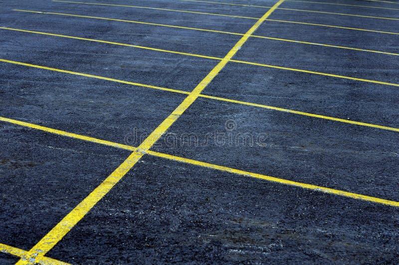 Parcheggio vuoto fotografia stock