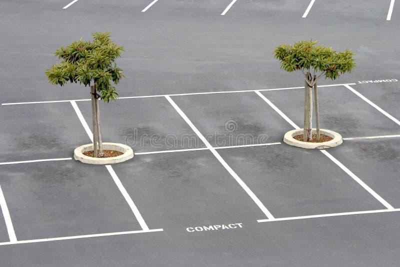 Parcheggio vuoto. fotografia stock
