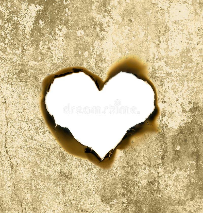 Parchemin de forme de coeur photos libres de droits
