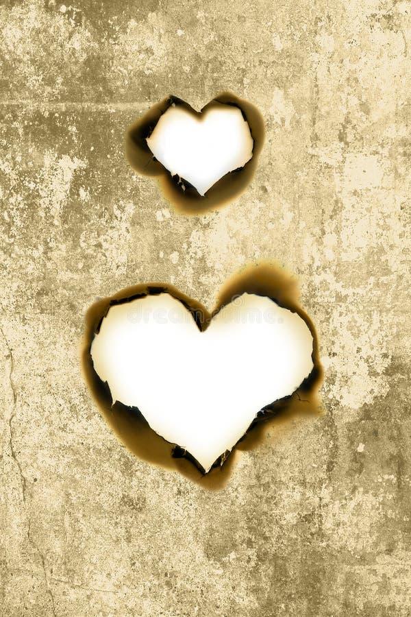 Parchemin de forme de coeur photos stock
