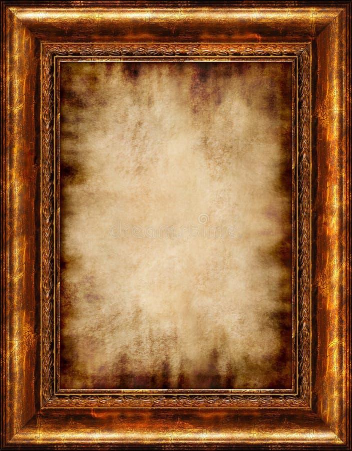 Parchemin encadré par antiquité brûlé photo libre de droits