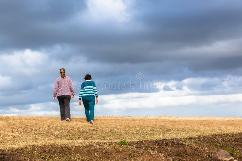 Parchi naturali di camminata delle figlie della madre immagine stock