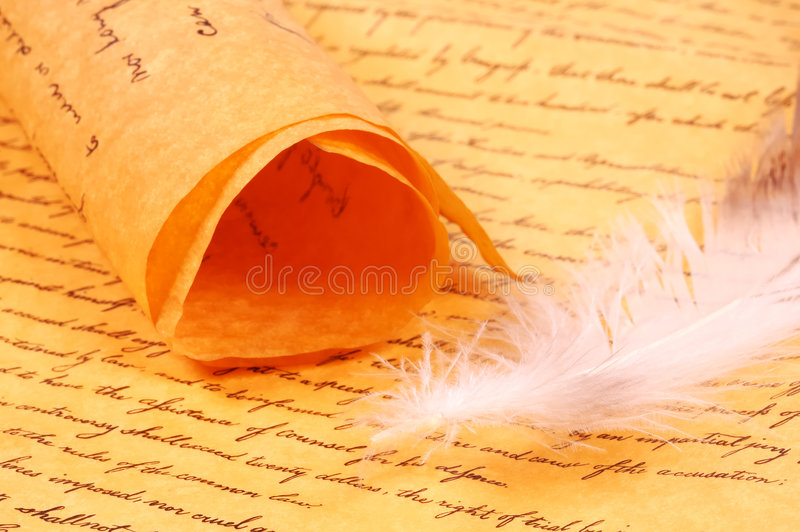 parchment royaltyfri foto