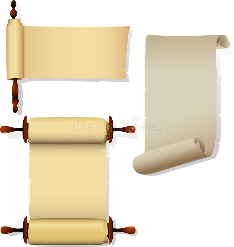 Parchment Banners Royalty Free Stock Images