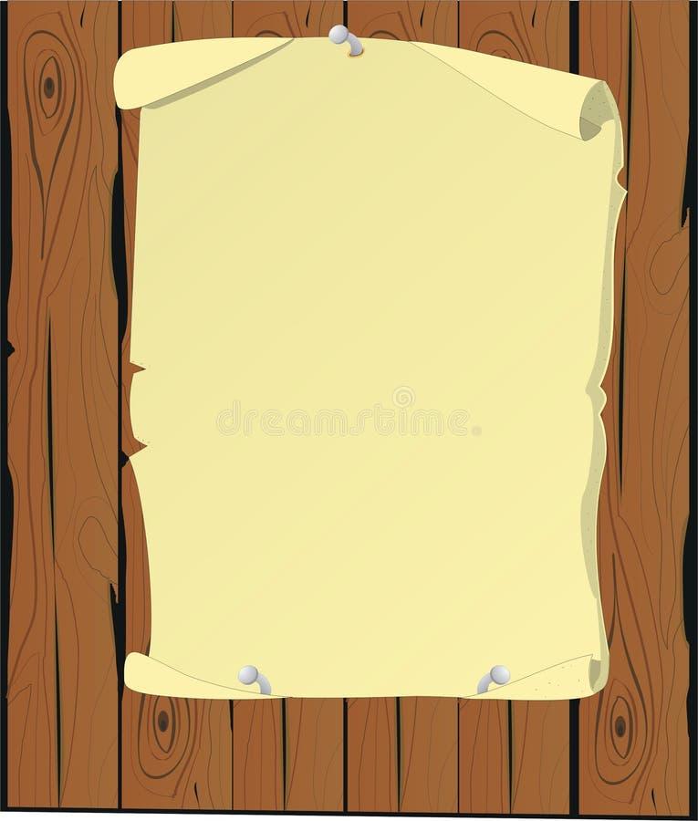 Parchment cartoon stock illustration