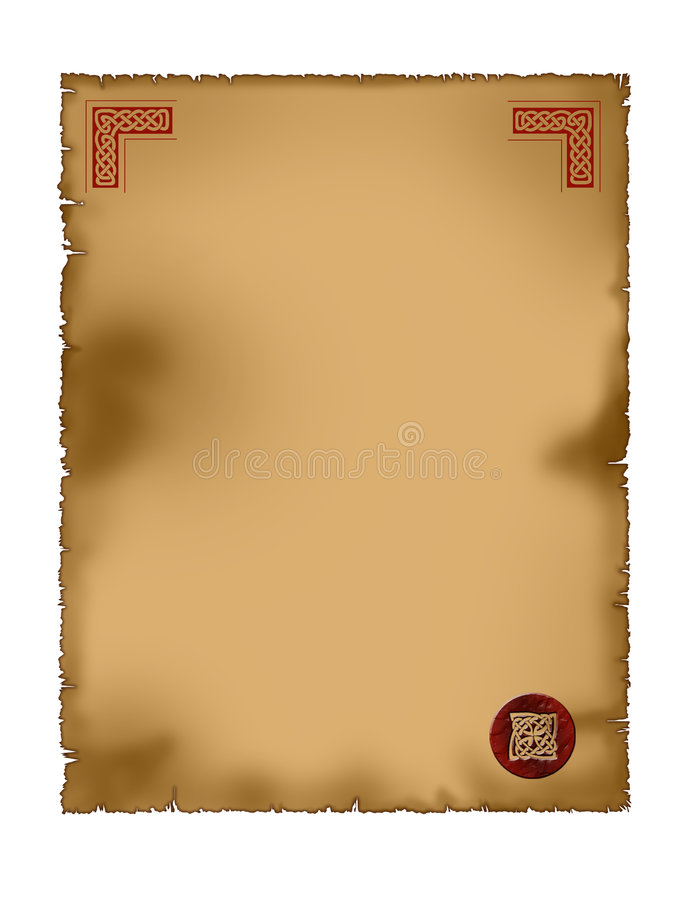 Free Parchment - Celtic Royalty Free Stock Images - 7398709