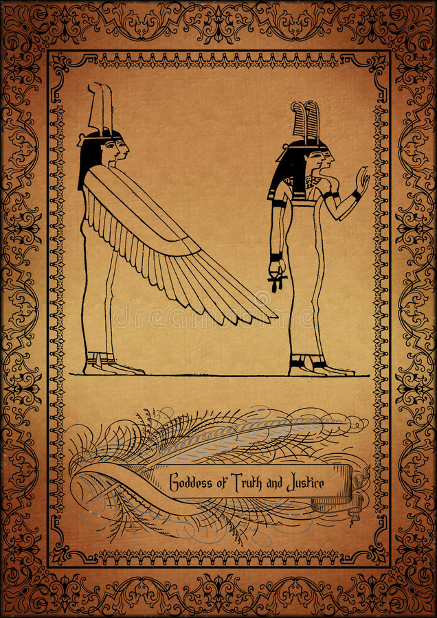 Parchment-Egyptian. Old Parchment with egyptian elements royalty free illustration