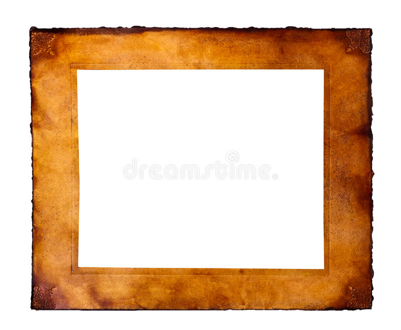 Parchment frame royalty free stock images