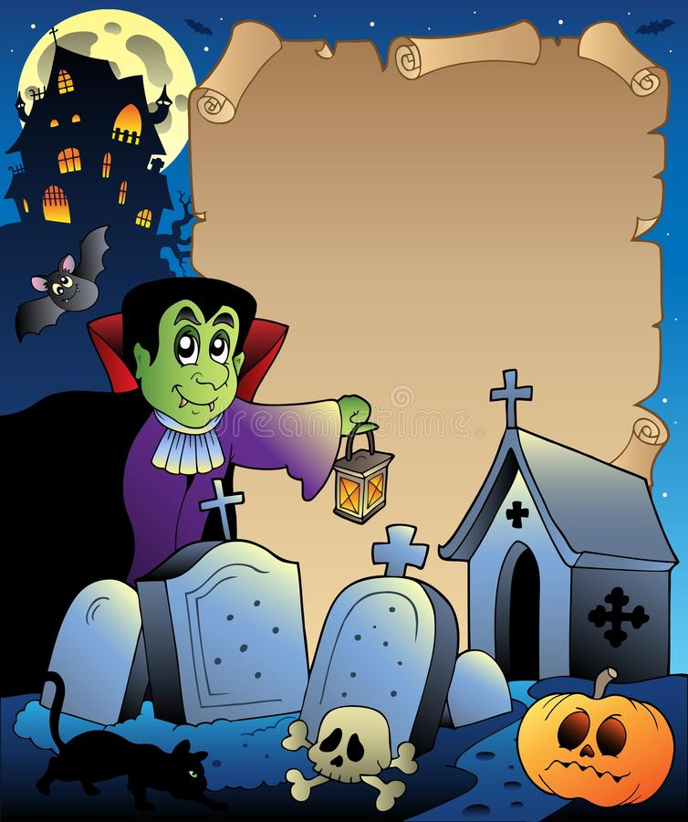 Parchment with Halloween topic 3