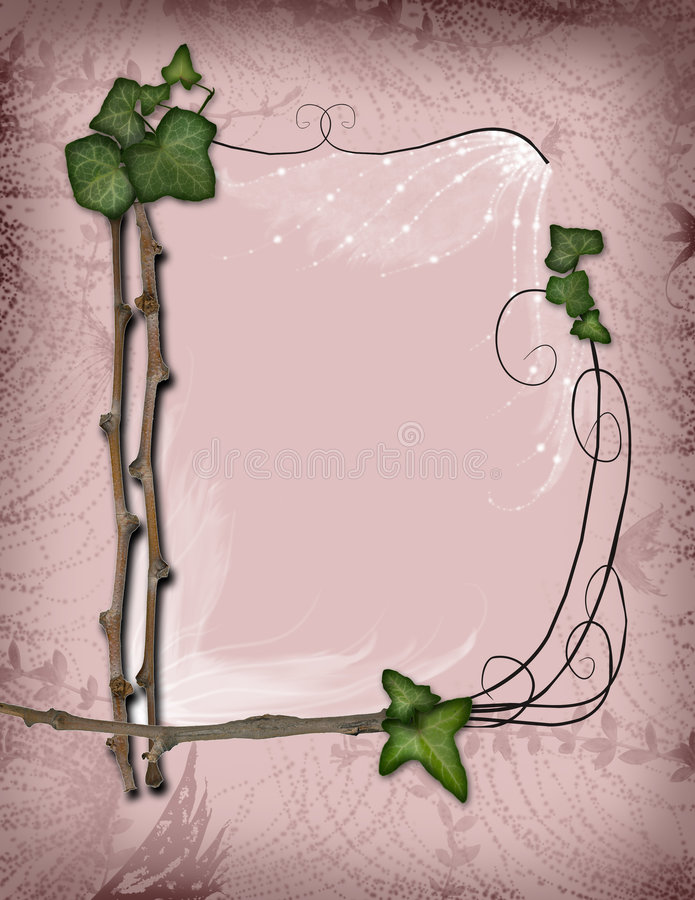 Download Parchment - Ivy And Branch Frame Stock Illustration - Image: 7825160