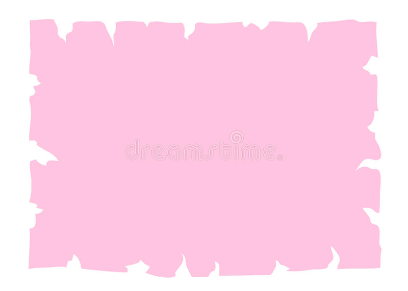 Parchment old paper banner pink vector illustration