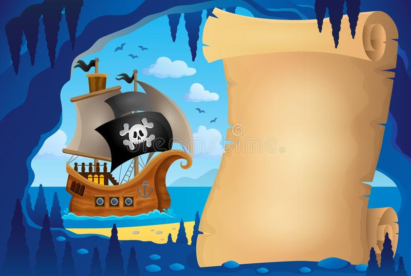 Parchment in pirate cave image 3 stock illustration