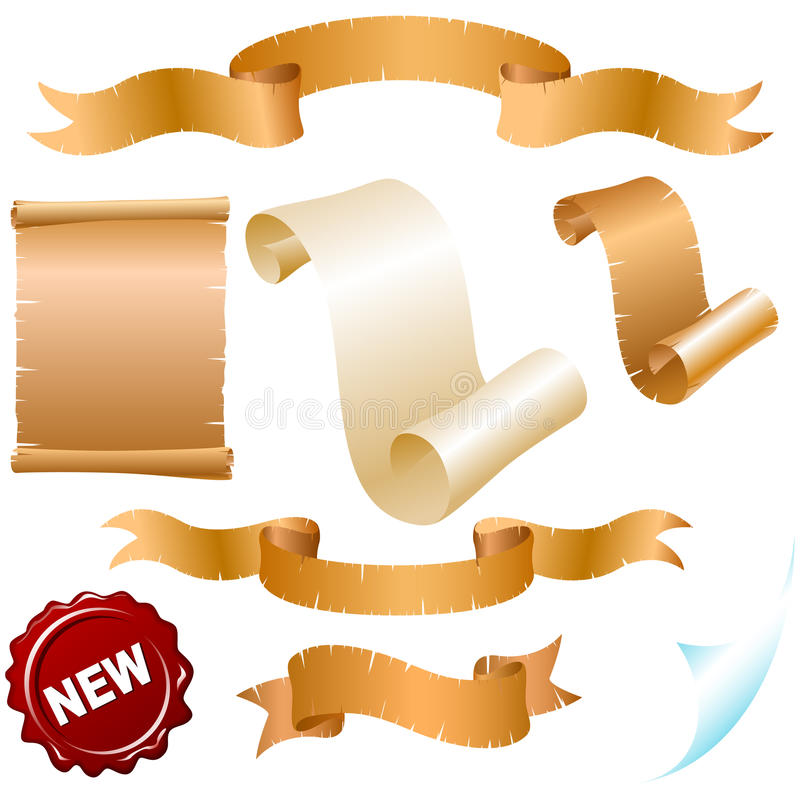 Parchment rolls royalty free illustration
